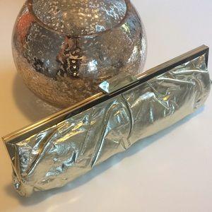 Gold Aldo Clutch Purse w/Gold Strap